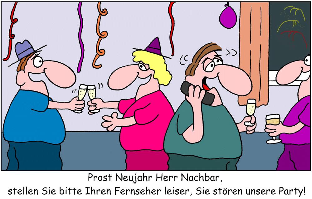 Laute Silvesterfeier